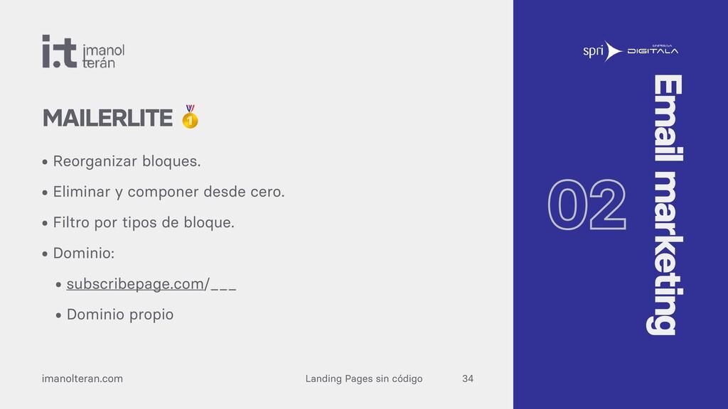 Landing Pages sin código imanolteran.com • Reor...