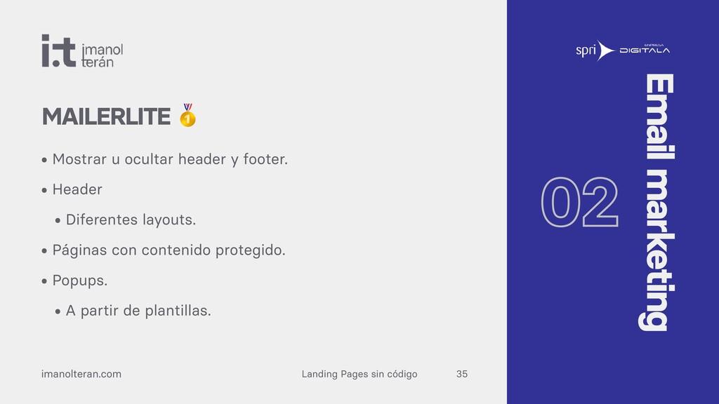Landing Pages sin código imanolteran.com • Most...