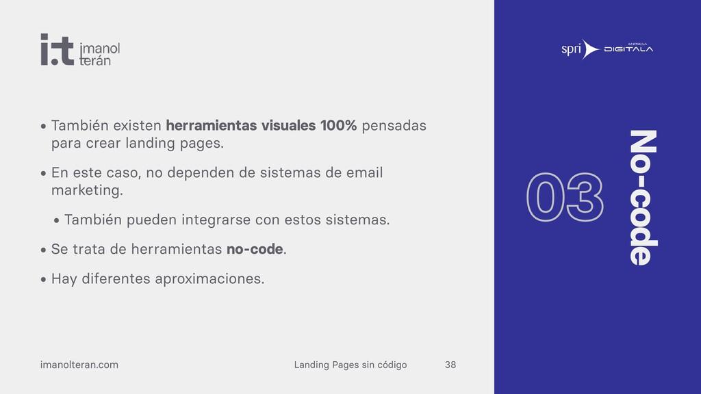Landing Pages sin código imanolteran.com • Tamb...