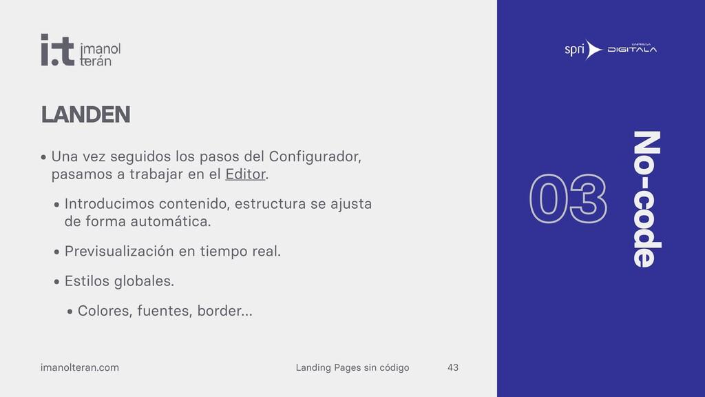 Landing Pages sin código imanolteran.com • Una ...