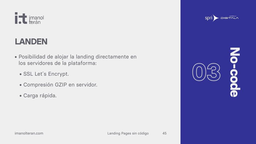 Landing Pages sin código imanolteran.com • Posi...