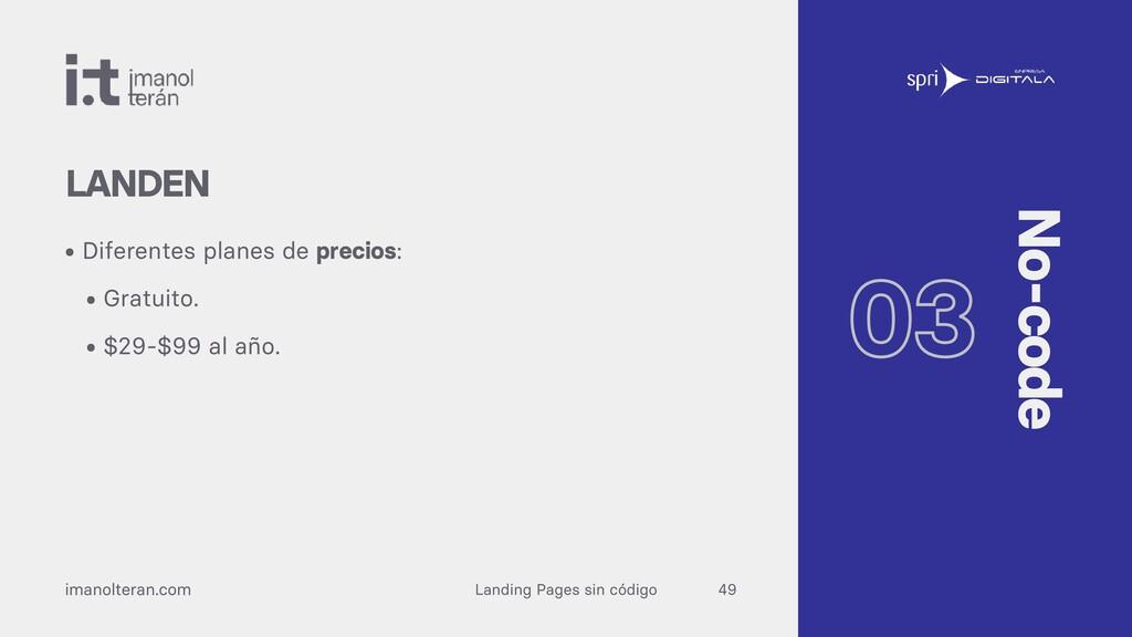 Landing Pages sin código imanolteran.com • Dife...