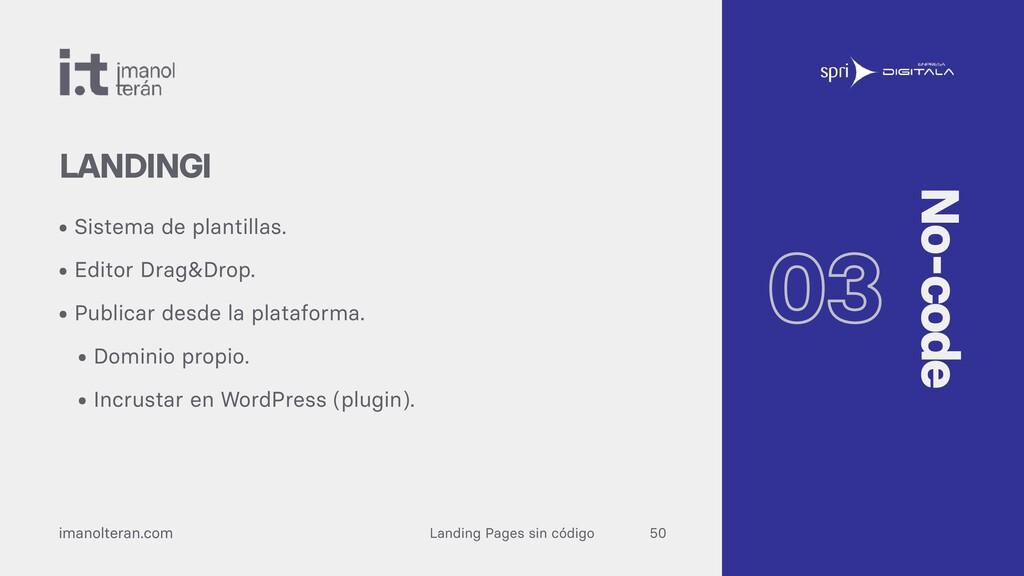 Landing Pages sin código imanolteran.com • Sist...