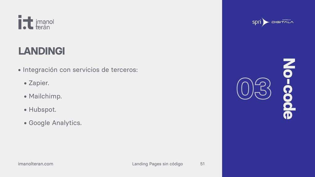 Landing Pages sin código imanolteran.com • Inte...