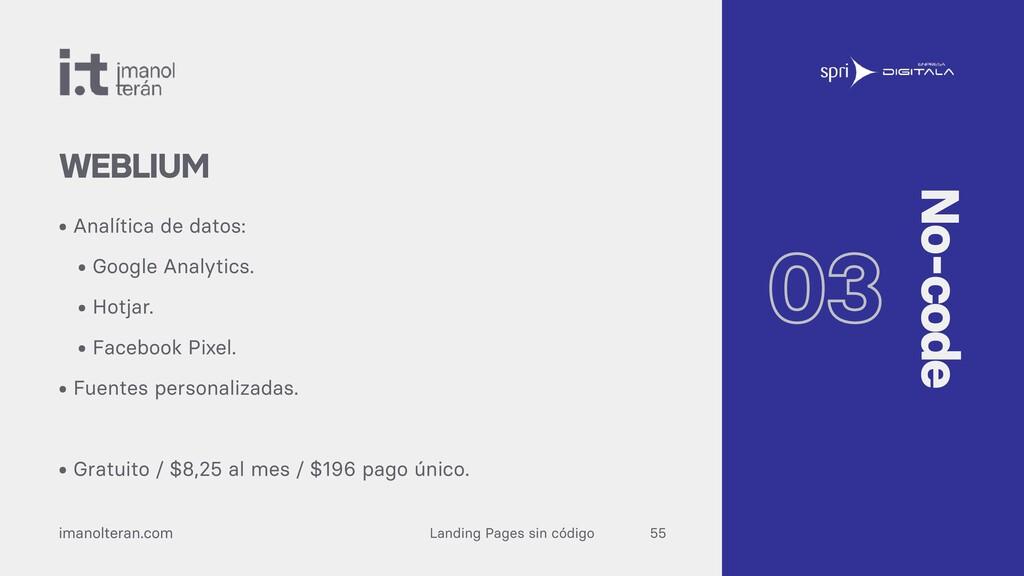 Landing Pages sin código imanolteran.com • Anal...