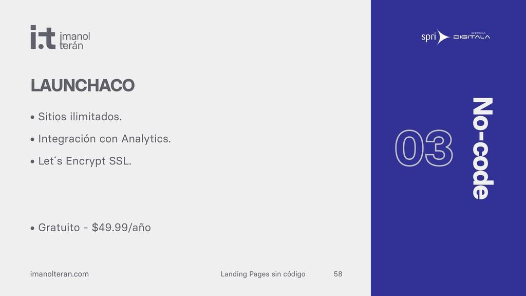 Landing Pages sin código imanolteran.com • Siti...