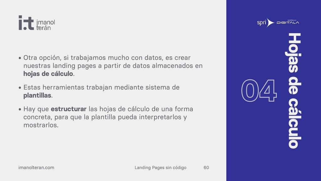 Landing Pages sin código imanolteran.com • Otra...