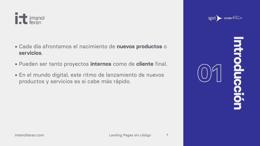 Landing Pages sin código imanolteran.com • Cada...