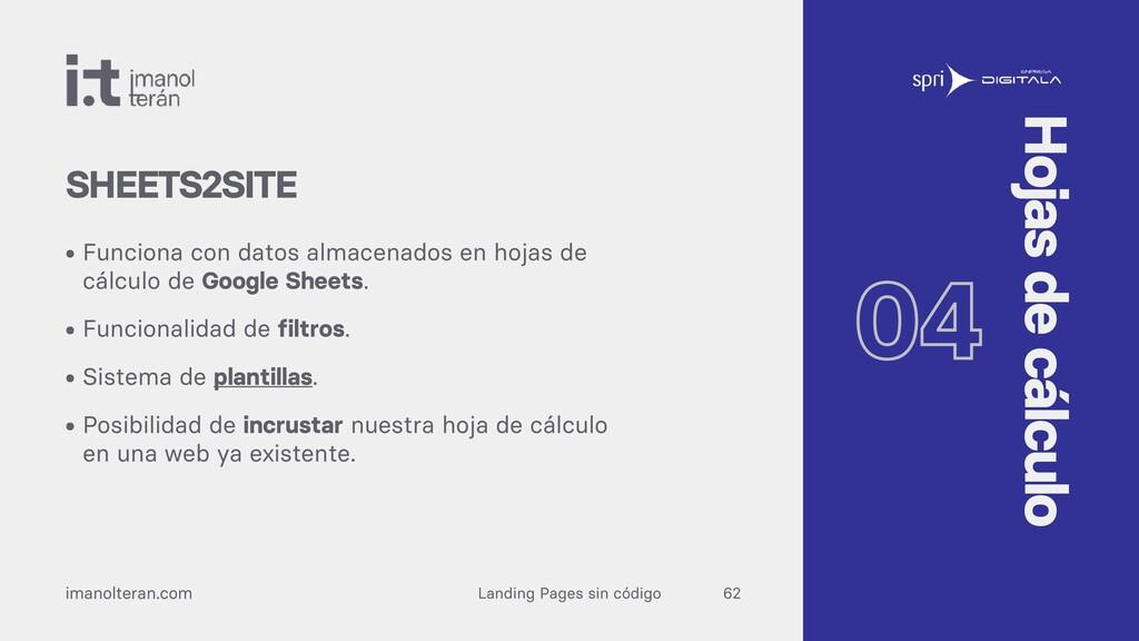 Landing Pages sin código imanolteran.com • Func...