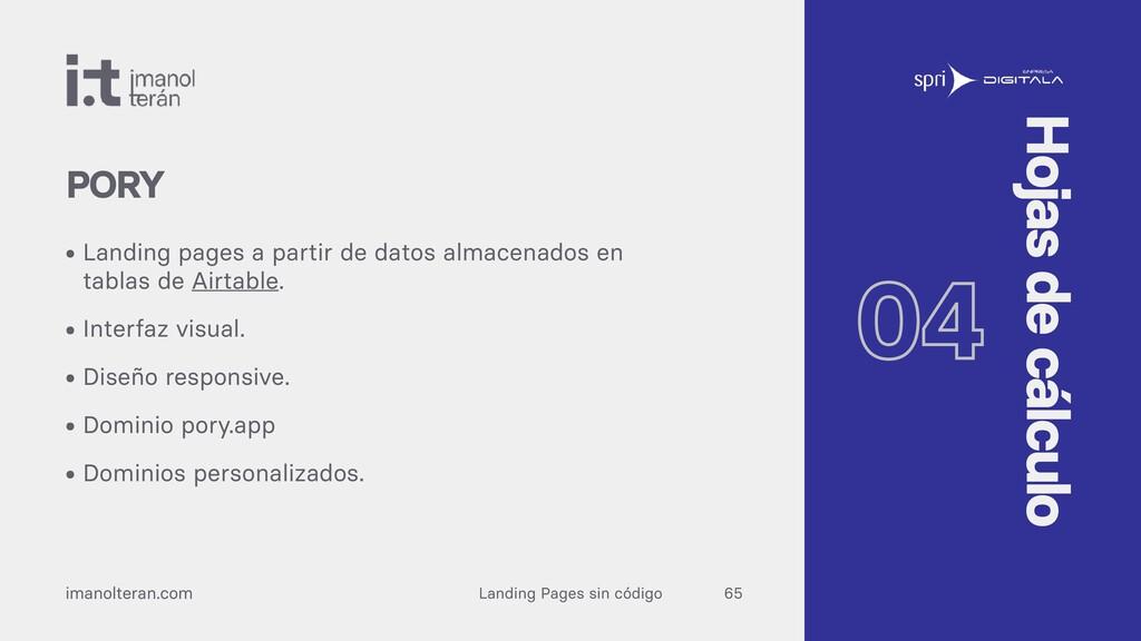 Landing Pages sin código imanolteran.com • Land...