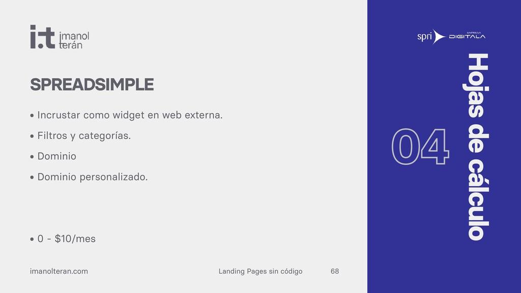 Landing Pages sin código imanolteran.com • Incr...