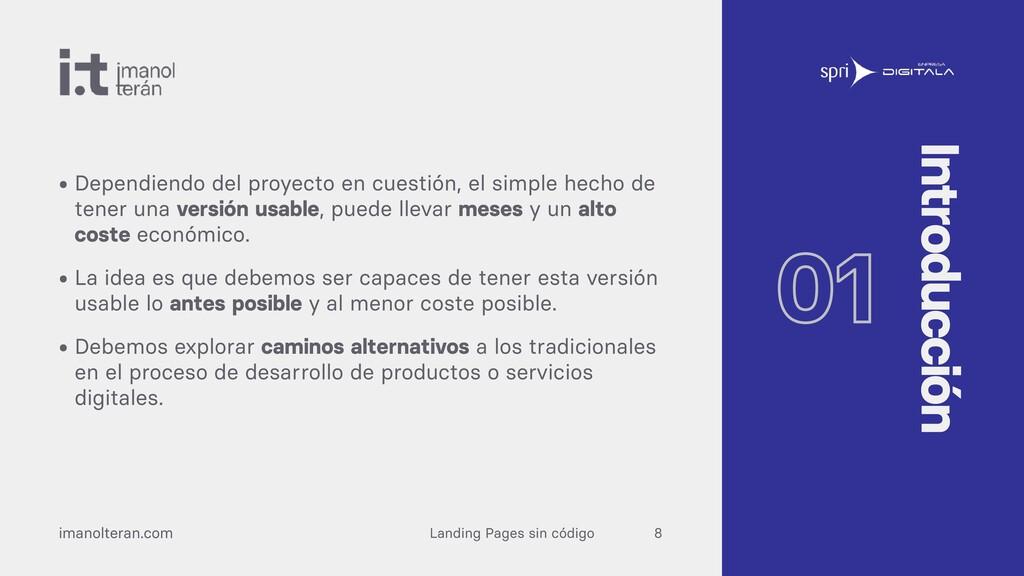 Landing Pages sin código imanolteran.com • Depe...
