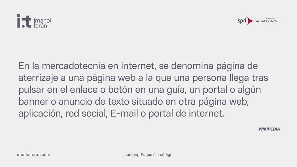 Landing Pages sin código imanolteran.com En la ...