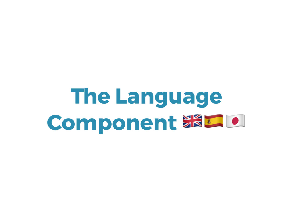 The Language Component 345