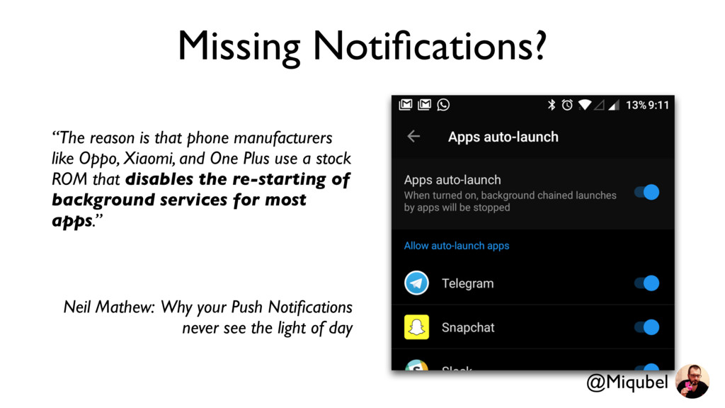 """Missing Notifications? """"The reason is that phone..."""