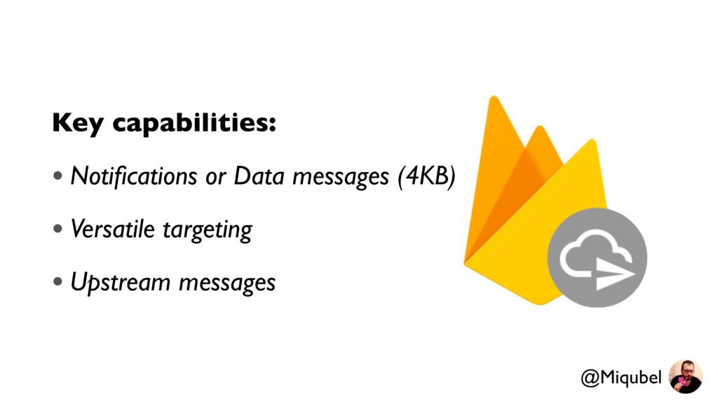 Key capabilities: • Notifications or Data messag...