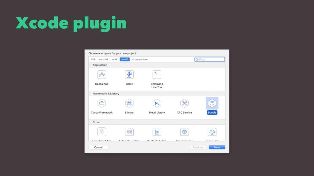 Xcode plugin