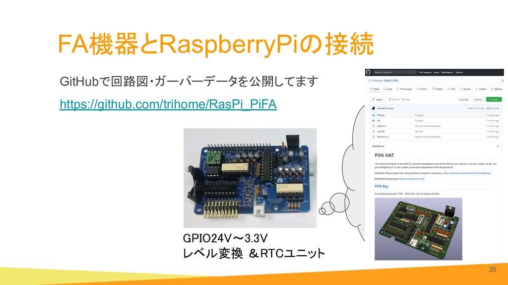 FA機器とRaspberryPiの接続 GitHubで回路図・ガーバーデータを公開してます h...