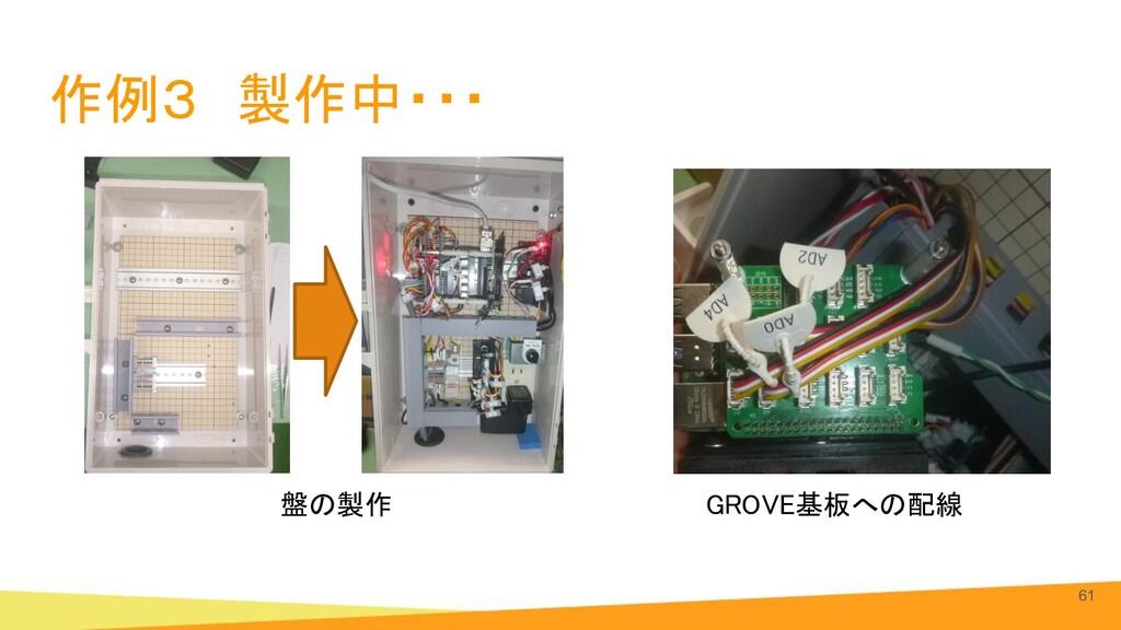 作例3 製作中・・・ 61 GROVE基板への配線 盤の製作