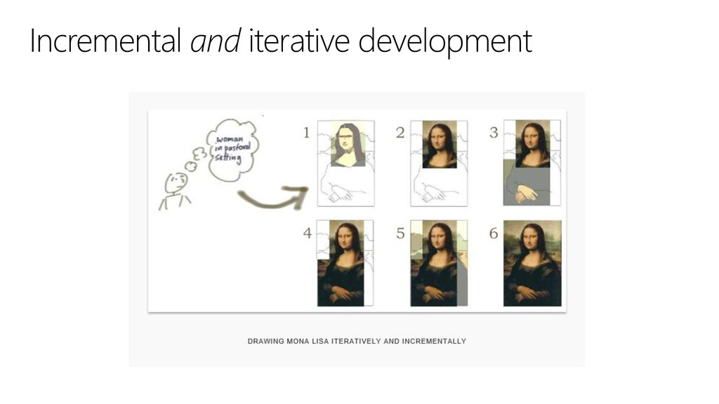 Incremental and iterative development