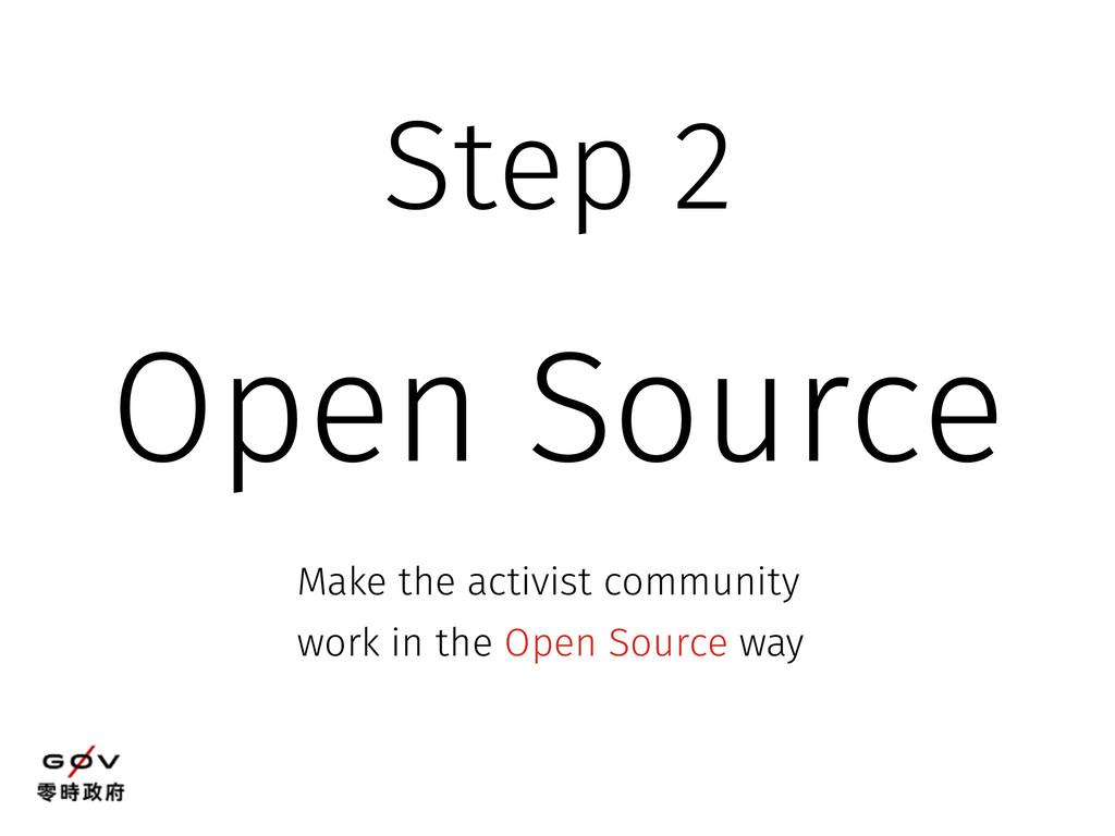 Open Source Make the activist community work in...