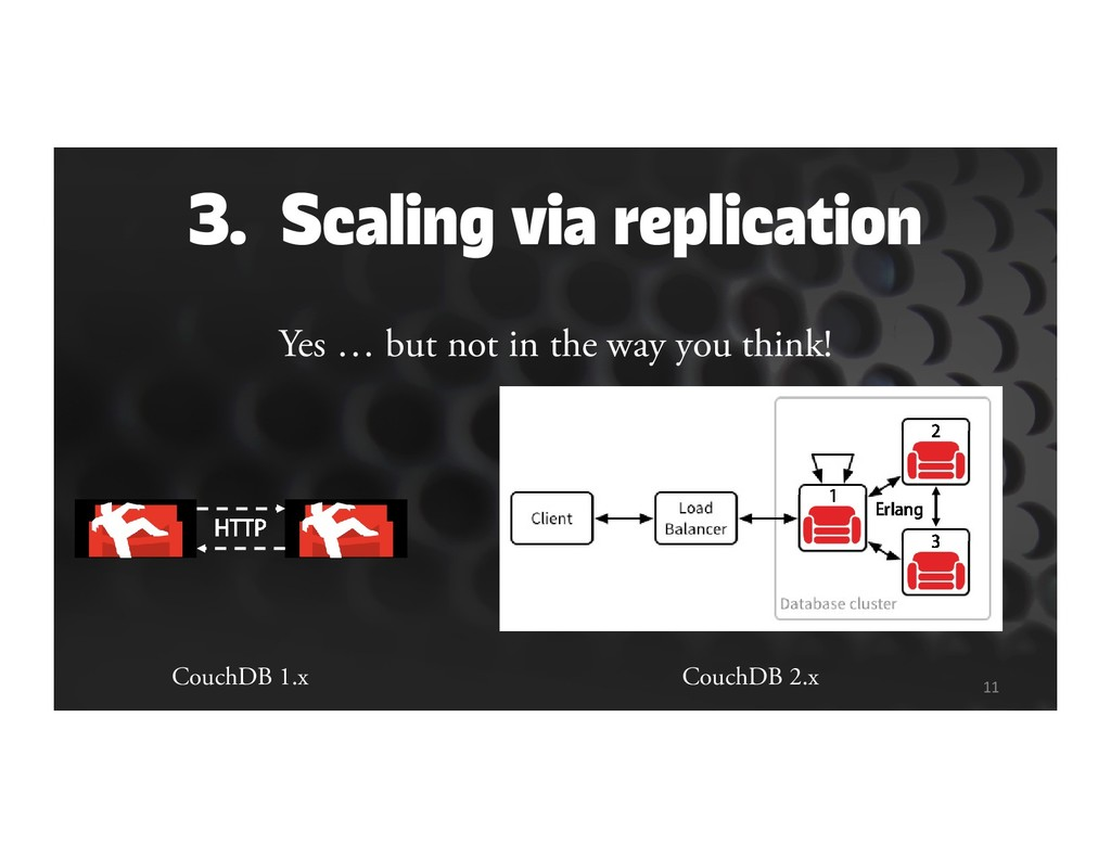 3. Scaling via replication Yes … but not in the...