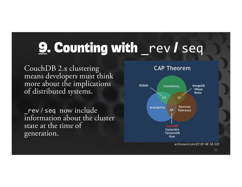 9. Counting with _rev / seq CouchDB 2.x cluster...