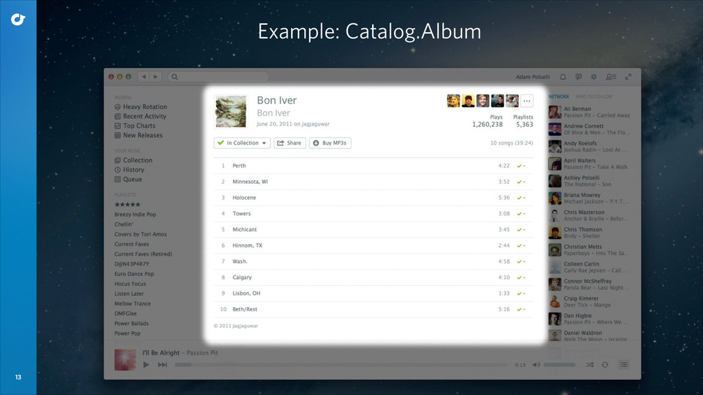 13 Example: Catalog.Album
