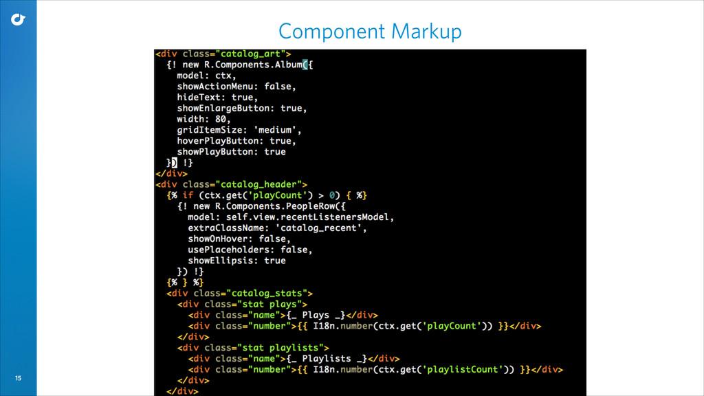 15 Component Markup