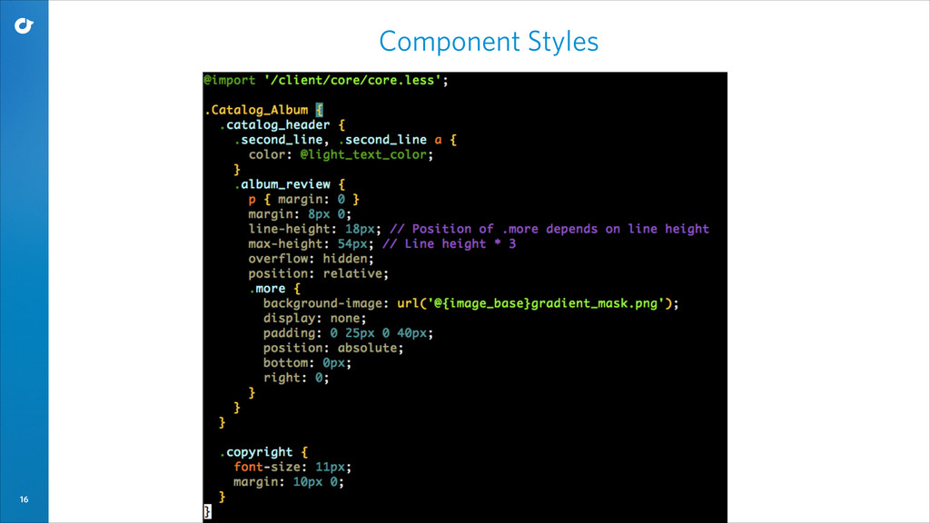 16 Component Styles