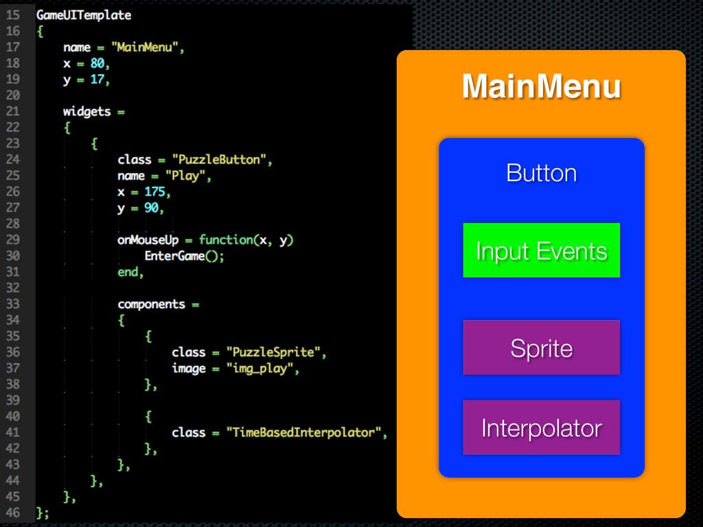 MainMenu Button Sprite Interpolator Input Events