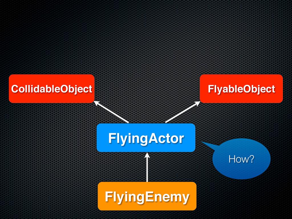 CollidableObject FlyableObject FlyingEnemy Flyi...