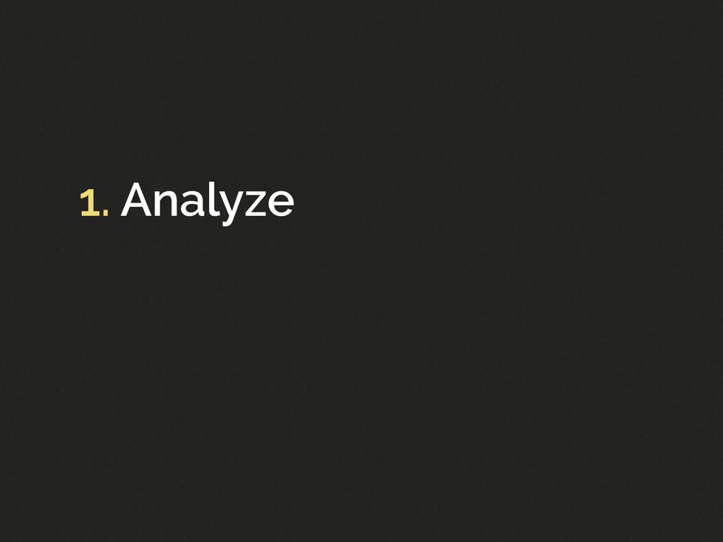 1. Analyze
