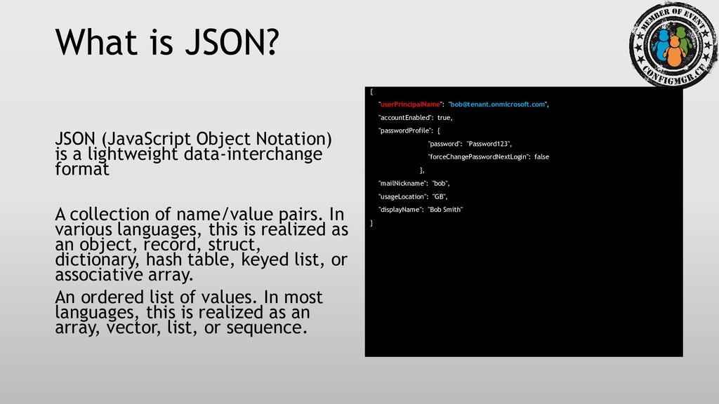 What is JSON? JSON (JavaScript Object Notation)...