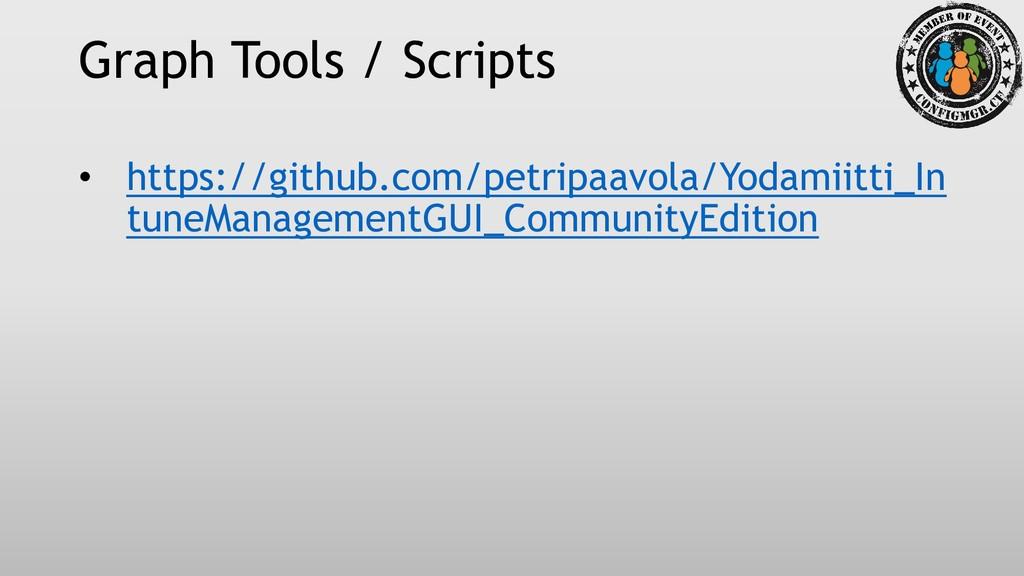 Graph Tools / Scripts • https://github.com/petr...