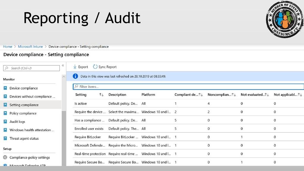 Reporting / Audit