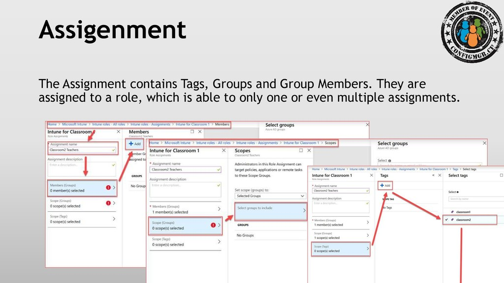 Assigenment The Assignment contains Tags, Group...