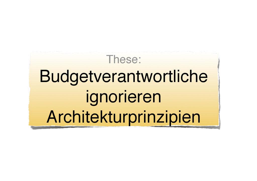 These: Budgetverantwortliche ignorieren Archite...