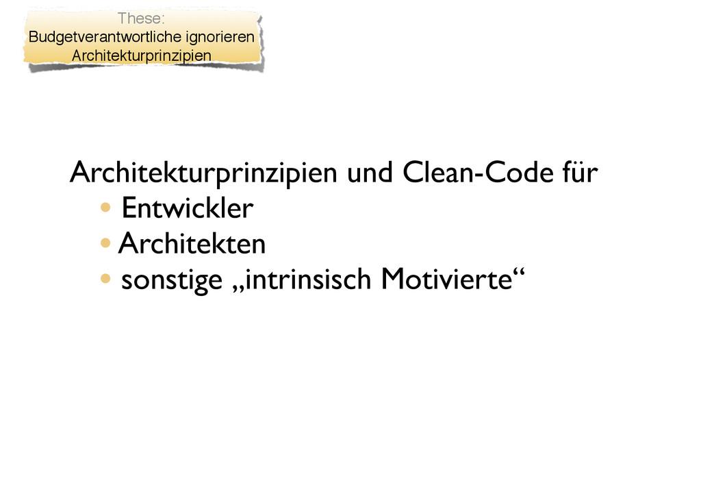 Architekturprinzipien und Clean-Code für • Entw...