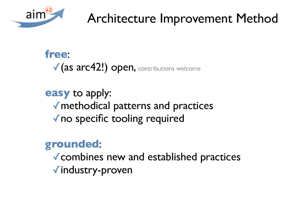 Architecture Improvement Method free: ✓(as arc4...