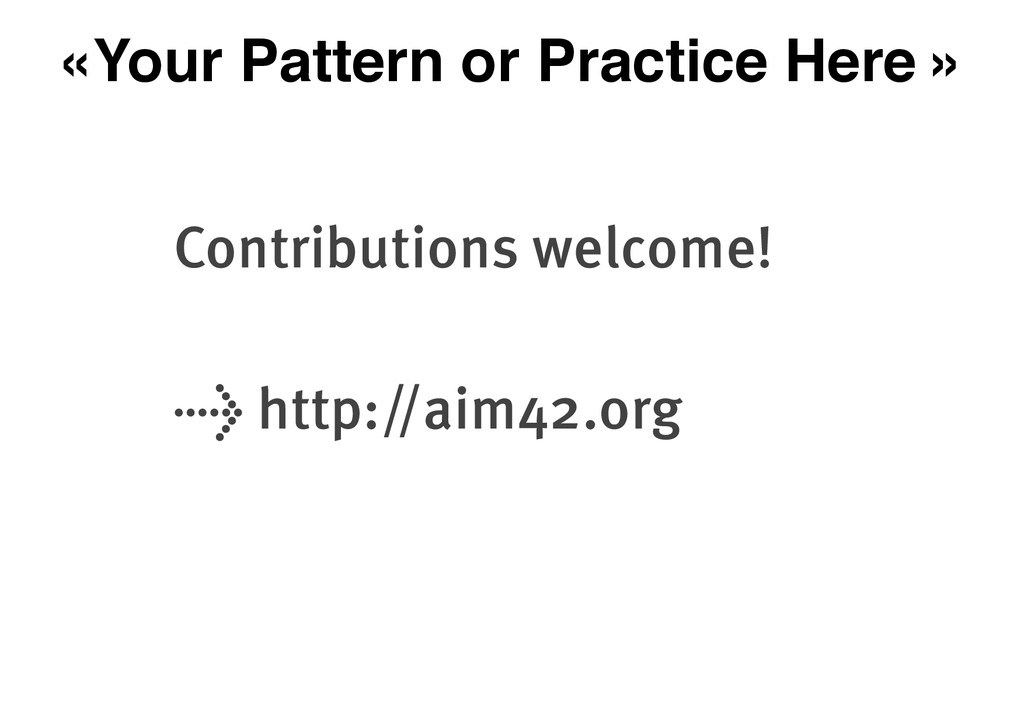«Your Pattern or Practice Here » Contributions ...