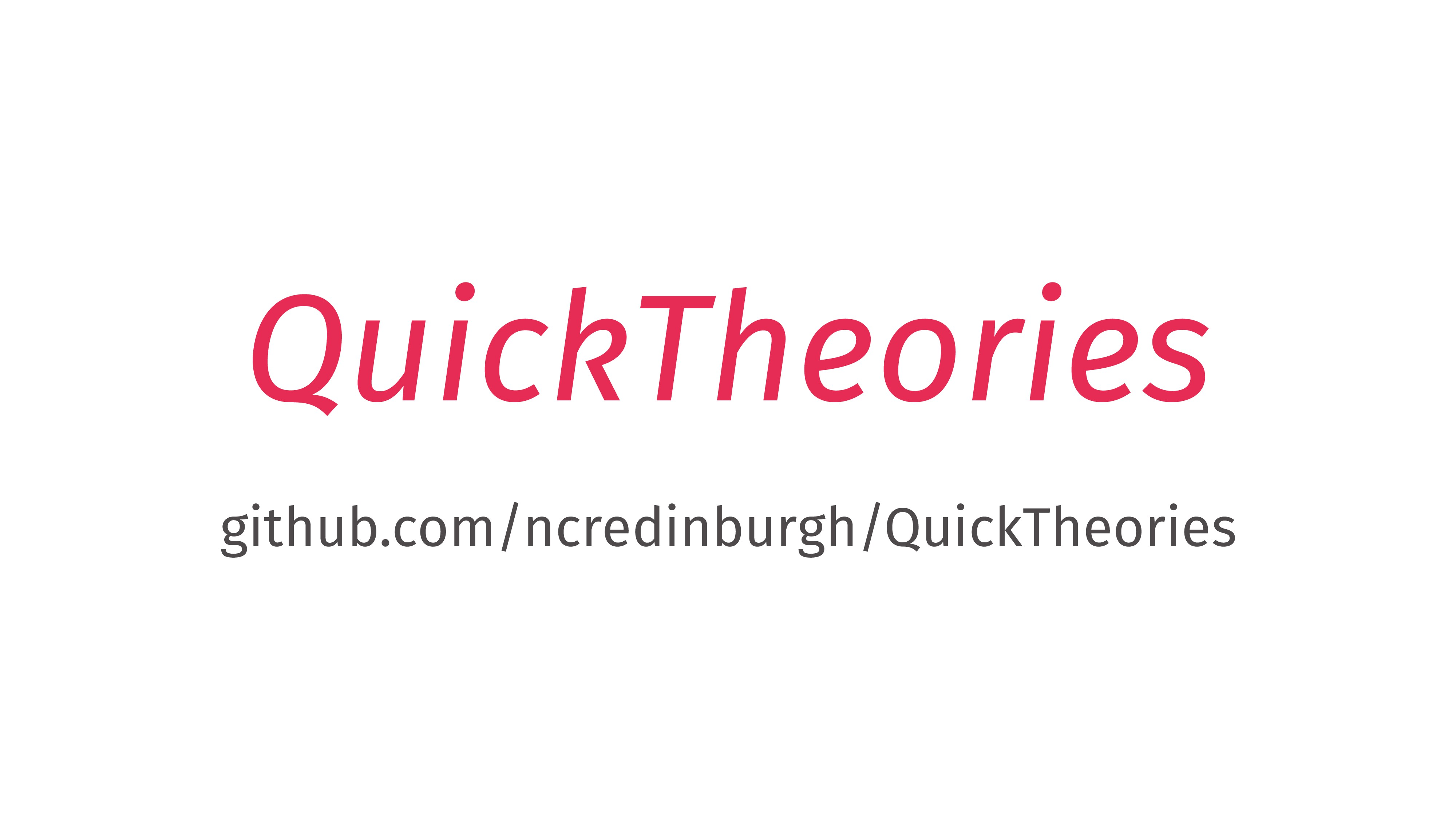 QuickTheories github.com/ncredinburgh/QuickTheo...