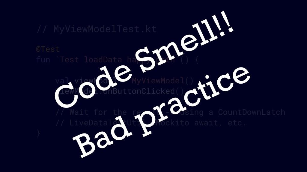 @Test fun `Test loadData happy path`() { val vi...
