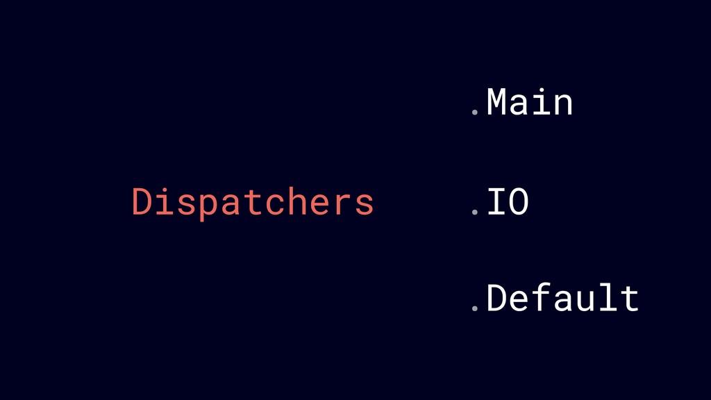 Dispatchers .IO .Main .Default