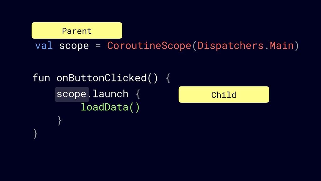 val scope = CoroutineScope(Dispatchers.Main) Pa...