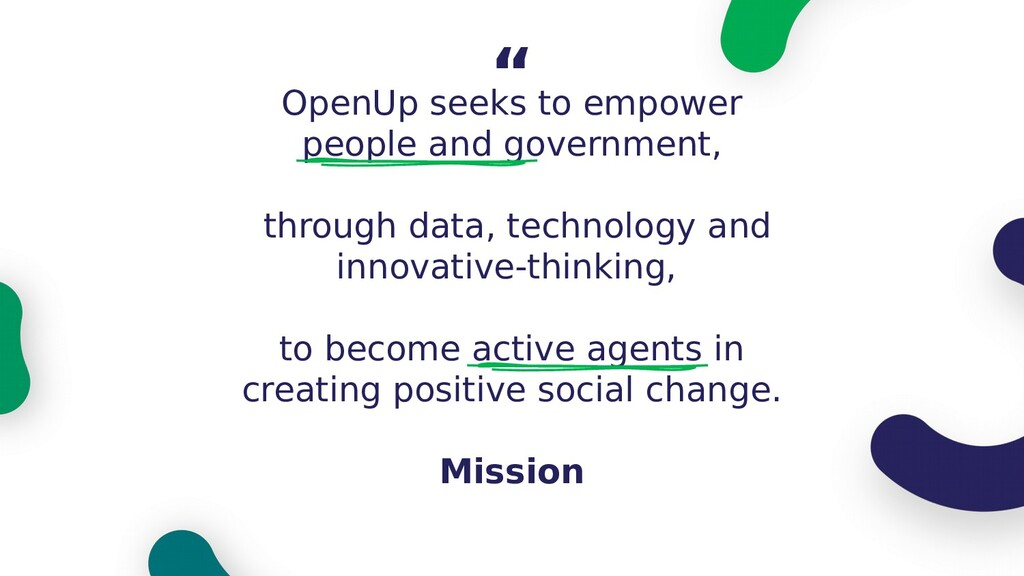 OpenUp seeks to empower people and government, ...