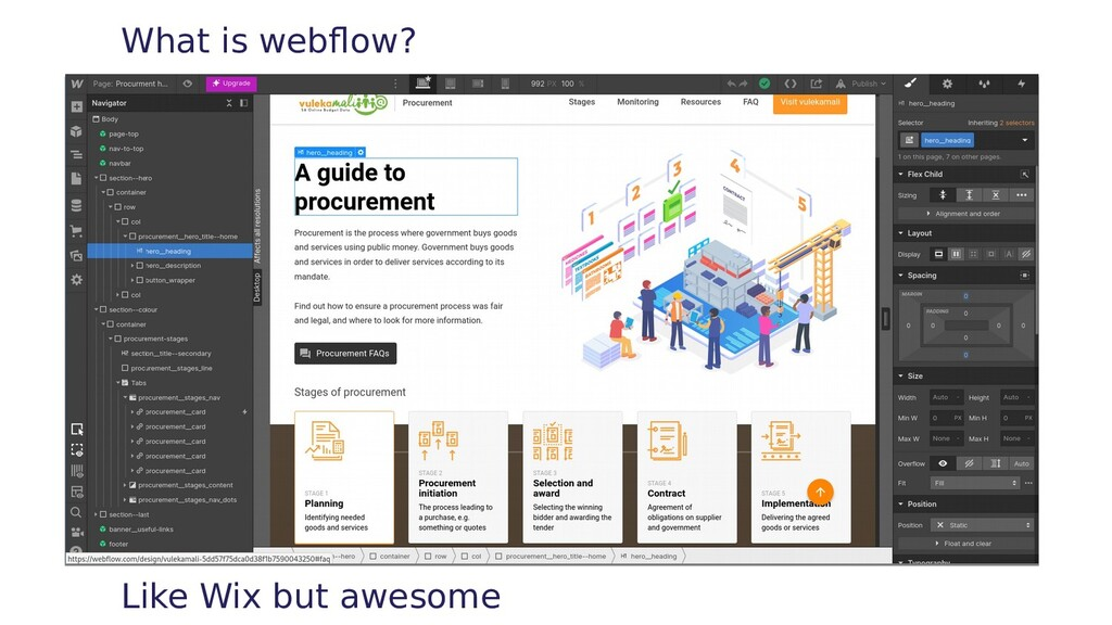 What is webflow? Like Wix but awesome
