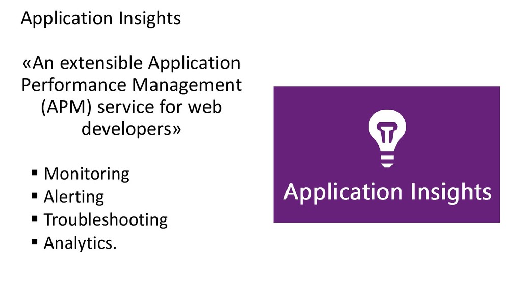 Application Insights «An extensible Application...