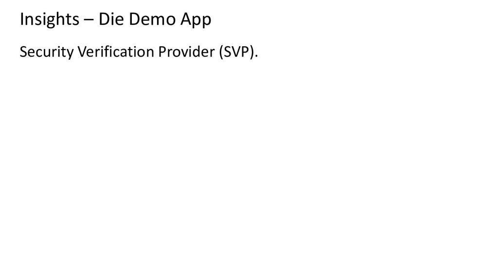 Insights – Die Demo App Security Verification P...