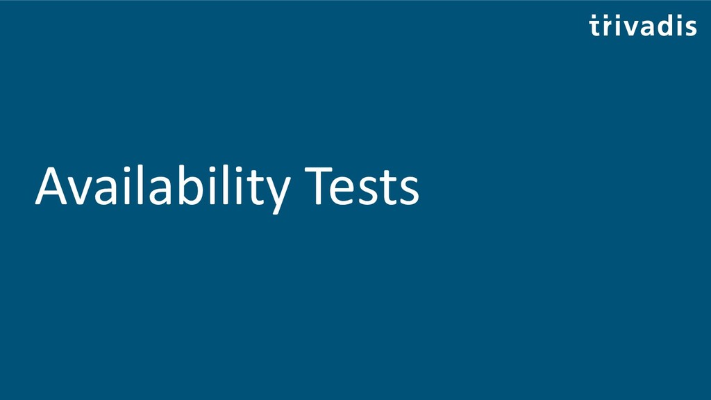 Availability Tests